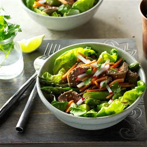 Sesame Beef & Asparagus Salad Recipe