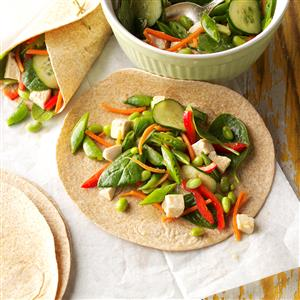 Sesame Chicken Veggie Wraps Recipe