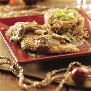 Sesame Chicken with Ginger Shiitake Cream Sauce Recipe