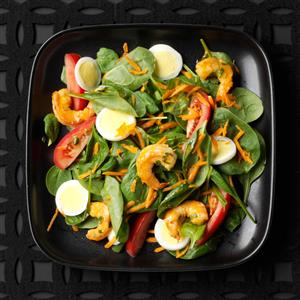 Shrimp & Spinach Salads Recipe