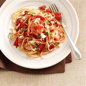 Shrimp & Tomato Linguine Toss Recipe