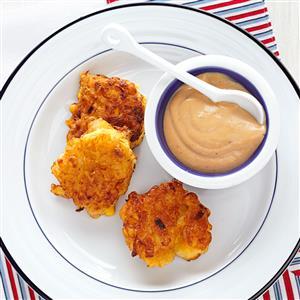 Shrimp Corn Cakes with Soy Mayo Recipe