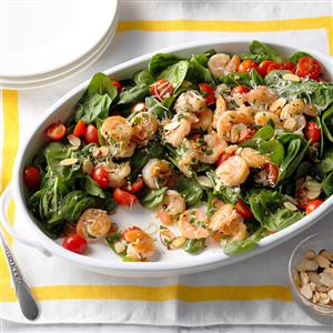 Shrimp Scampi Spinach Salad Recipe