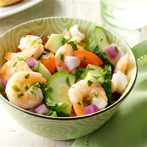 Shrimp Veggie Salad Recipe