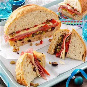 Sicilian Overstuffed Sandwich Wedges Recipe