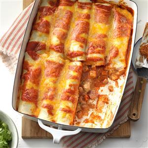 Simple chicken enchiladas recipe taste of home simple chicken enchiladas recipe forumfinder Gallery