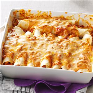 recipe: chicken enchiladas with cream of chicken soup and enchilada sauce [18]
