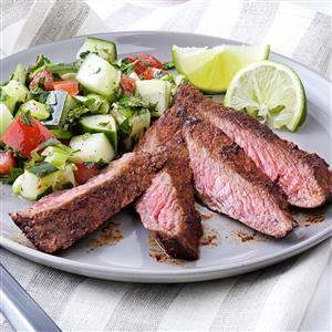 Sizzle & Smoke Flat Iron Steaks Recipe