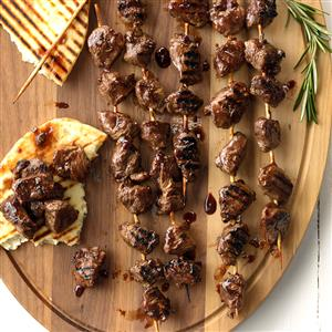 Skewered Lamb with Blackberry-Balsamic Glaze Recipe