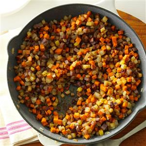 Skillet Potato Medley Recipe