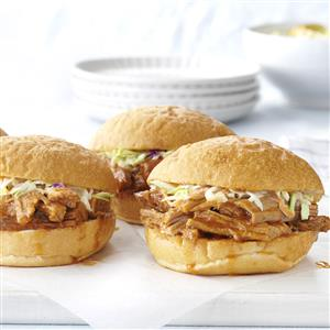Slow-Cooked Barbecued Pork Sandwiches Recipe