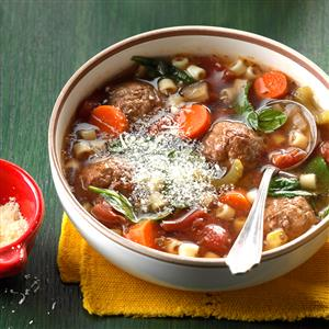 Slow-Cooked Meatball Soup Recipe