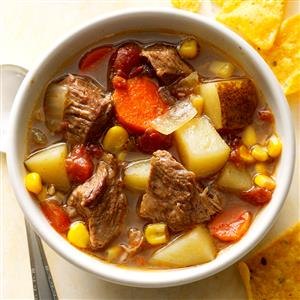Slow-Cooked Mexican Beef Soup Recipe