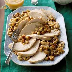 Slow-Cooked Turkey with Herbed Stuffing Recipe
