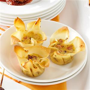 Smoked Gouda and Ham Appetizer Tarts Recipe