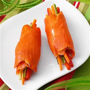 Smoked Salmon Roulades Recipe