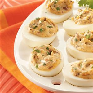 Smokin' Hot Deviled Eggs Recipe