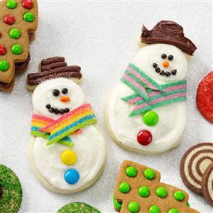 Snowman Butter Cutouts Recipe
