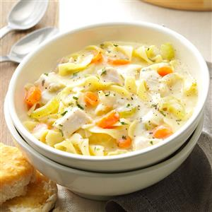 Soupy Chicken Noodle Supper Recipe