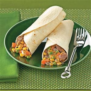 Southwest Beef Burritos Recipe
