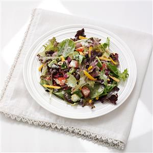 Southwestern Black Bean and Lettuce Salad with Salsa Verde Dressing Recipe