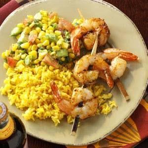 Southwestern Shrimp with Salsa Recipe