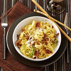 Spaghetti with Eggs and Bacon Recipe
