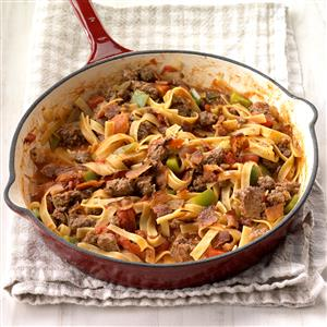 Spanish Noodles and Ground Beef Recipe