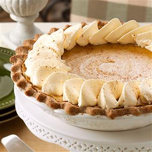 Spiced Pumpkin Custard Pie Recipe