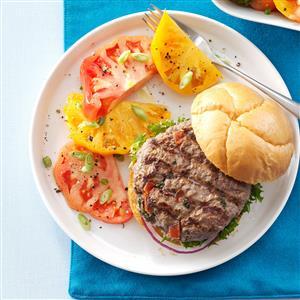 Spicy Cajun Salsa Burgers Recipe