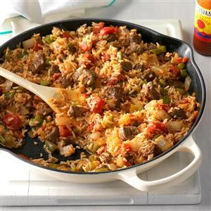 Spicy Cajun Sausage and Rice Skillet Recipe