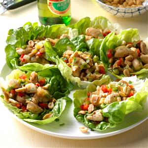 Spicy Chicken Lettuce Wraps Recipe