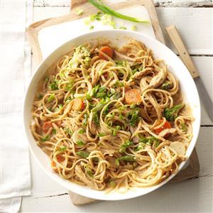 Spicy Peanut Chicken & Noodles Recipe