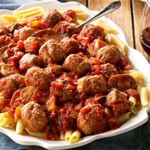 Spicy Sausage Meatball Sauce Recipe