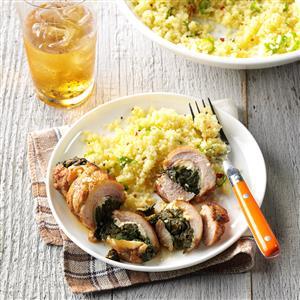 Spinach & Feta Stuffed Chicken  Recipe