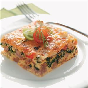 Spinach & Sausage Egg Bake Recipe