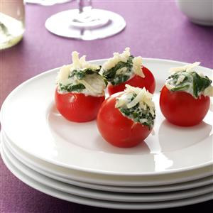 Spinach Artichoke-Stuffed Tomatoes Recipe