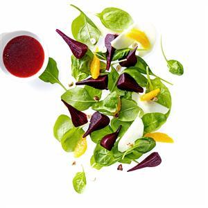 Spinach Beet Salad Recipe