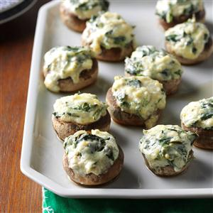Spinach Dip-Stuffed Mushrooms Recipe