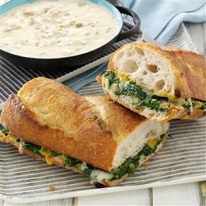 Spinach Po' Boy Recipe