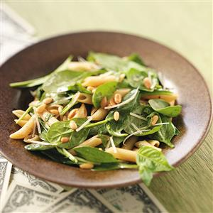 Spinach Salad with Penne Recipe