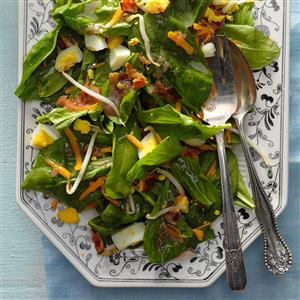 Spinach Salad with Rhubarb Dressing Recipe