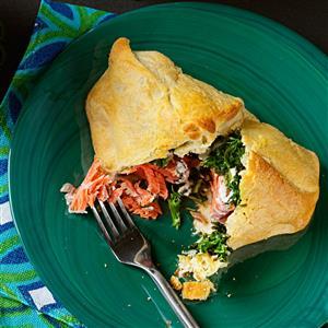 Spinach Salmon Bundles Recipe
