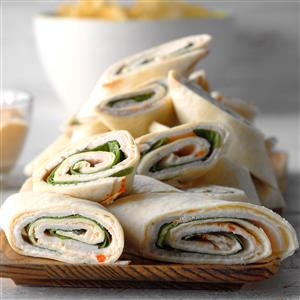 Spinach and Turkey Pinwheels Recipe