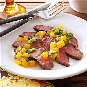 Steak with Citrus Salsa Recipe