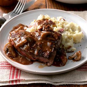 Steaks with Mushroom Sauce Recipe