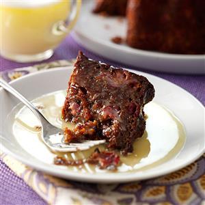 Steamed Cranberry-Molasses Pudding Recipe