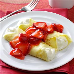 Strawberry Creme Crepes