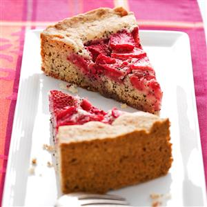 Strawberry Poppy Seed Cake Recipe