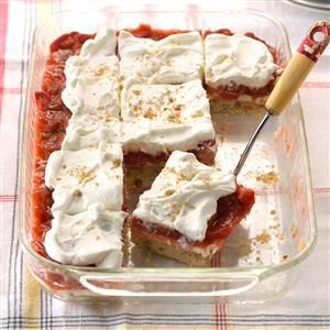 Strawberry-Rhubarb Cream Dessert Recipe